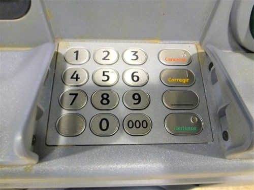 ATMのボタン