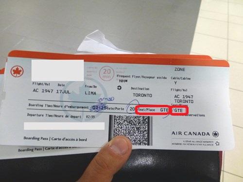 搭乗券(GTEと記載)