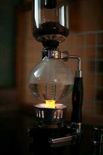サイフォン方式のコーヒー