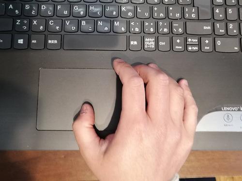 ノートパソコンのタッチパッド